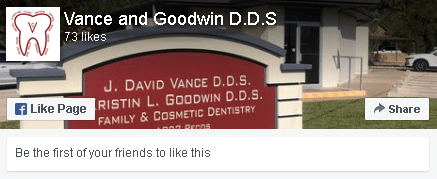 Vance Goodwin DDS facebook portal window